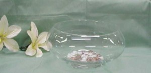 Glass Lily Bowl - 10in - 4ct