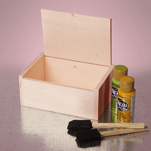 Top Hinged Wood Gift Box - 12ct