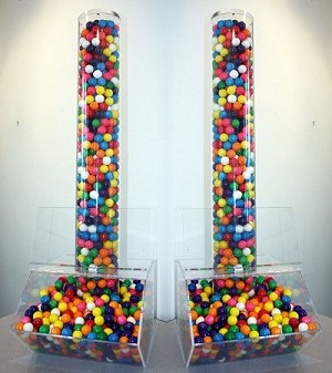 Extra Large Candy Bin With Acrylic Tube
