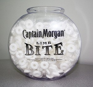 Logo 1/2 Gallon Drum Style Fish Bowl - 135ct