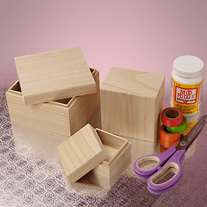 Nesting Square Cap Box Set - 6 Sets