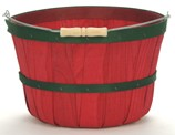 One Peck Apple Baskets Red- 12ct