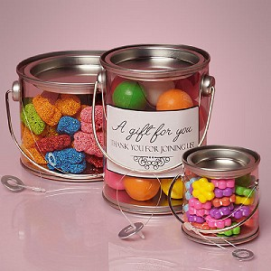 Round Container With Wire Handle 4x4 24 Ct Gift Containers