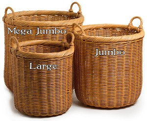 Jumbo Round Wicker Storage Basket