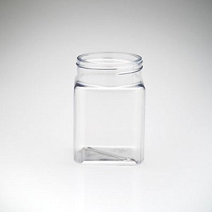 6 oz Plastic Square Jars - 252ct