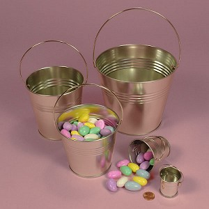 Medium Steel Pails w/Handles - 12ct